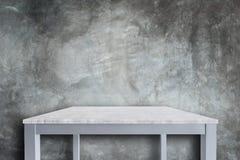 Пустая верхняя часть предпосылки естественной каменной таблицы и каменной стены Стоковое Изображение