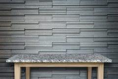 Пустая верхняя часть предпосылки естественной каменной таблицы и каменной стены Стоковые Фотографии RF