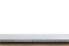 Пустая верхняя часть таблицы камня гранита изолированной на белой предпосылке Стоковая Фотография RF