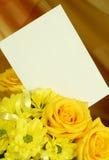 пустая весна карточки букета Стоковые Фото