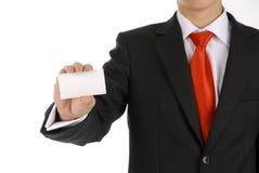 пустая визитная карточка вручая человека Стоковые Изображения RF
