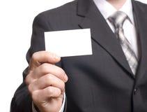 пустая визитная карточка вручая человека Стоковые Фотографии RF