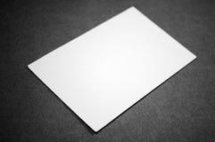 пустая визитная карточка Стоковые Фотографии RF