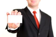 пустая визитная карточка Стоковое Изображение RF