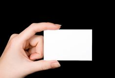 пустая визитная карточка Стоковые Фото