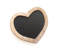 пустая влюбленность сердца chalkboard Стоковая Фотография