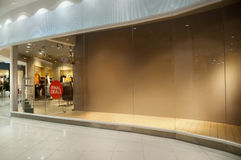 Пустая внешняя витрина магазина магазина стоковая фотография