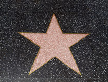 пустая Голливудская звезда Стоковые Фотографии RF