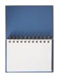 пустая голубая горизонтальная страница тетради одиночная Стоковое фото RF