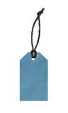 Пустая голубая бирка ярлыка цены Стоковое фото RF