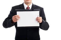 Пустая доска сзажимом для бумаги Стоковые Фотографии RF