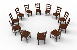 Пустая деревянная встреча стула Стоковая Фотография