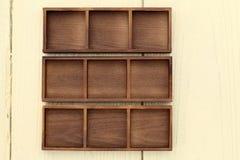 Пустая деревянная коробка Стоковая Фотография