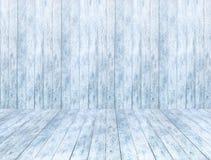 Пустая деревянная предпосылка панели льда и деревянные пол или таблица льда с снегом Стоковое Изображение RF
