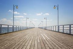 Пустая деревянная пристань Стоковое Фото