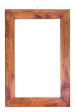 Пустая деревянная рамка фото изолированная на белизне белизна разнообразия украшения предпосылки статьей нутряная малая Стоковые Изображения RF