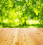 Пустая деревянная таблица Стоковое фото RF