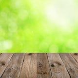 Пустая деревянная таблица Стоковое Фото
