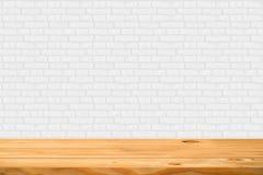 Пустая деревянная таблица Стоковая Фотография