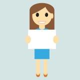 пустая женщина знака Стоковая Фотография RF