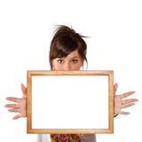 пустая женщина рамки Стоковые Изображения