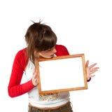 пустая женщина рамки Стоковая Фотография RF
