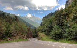 Пустая живописная дорога Стоковое Изображение