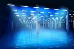 Пустая зала фабрики также вектор иллюстрации притяжки corel иллюстрация штока