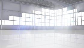Пустая зала фабрики также вектор иллюстрации притяжки corel иллюстрация вектора