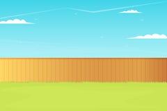 Пустая задворк с загородкой Стоковые Изображения