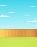 Пустая задворк с загородкой Стоковые Фото