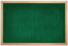 Пустая зеленая доска с деревянной рамкой на белой предпосылке Стоковая Фотография RF
