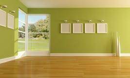 пустая зеленая комната