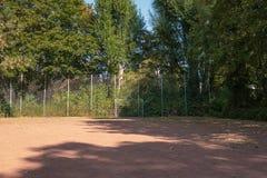 Пустая земля футбола Стоковые Фотографии RF