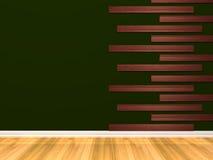 пустая зеленая комната Стоковое Изображение