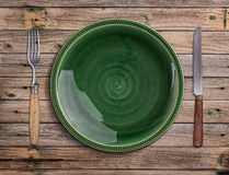 пустая зеленая плита Стоковая Фотография