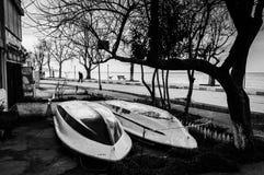 Пустая зона летних каникулов в зиме Стоковая Фотография