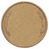 Пустая золотая монетка Стоковое Изображение