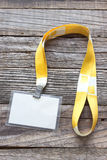 Пустая изолированная бирка карточки ID Стоковые Изображения