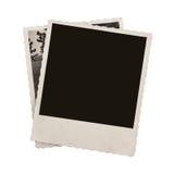 Пустая изолированная бумага фото сбора винограда стоковая фотография