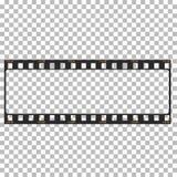 Пустая иллюстрация запаса рамки фильма Изображение вектора фильма рамки Стоковые Изображения