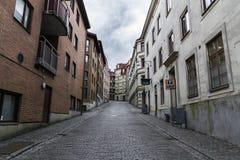 Пустая и унылая улица в Гётеборге Стоковое Изображение