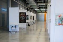 Пустая картинная галлерея современного искусства Стоковая Фотография RF