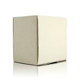 Пустая картонная коробка стоковое изображение