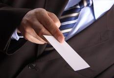 пустая карточка бизнесмена дела Стоковая Фотография RF