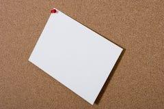 пустая карточка бюллетеня доски Стоковые Фотографии RF