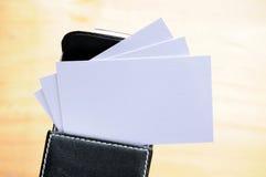 Пустая карточка в коробке Стоковые Изображения RF