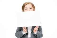 пустая карточка мальчика Стоковая Фотография
