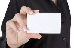 пустая карточка стоковая фотография