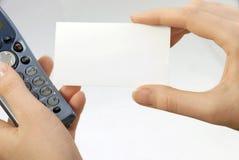 пустая карточка Стоковые Фотографии RF